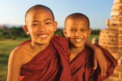 Young Buddhist monks